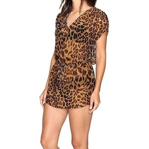 Ralph Lauren NWT leopard print swim cover up